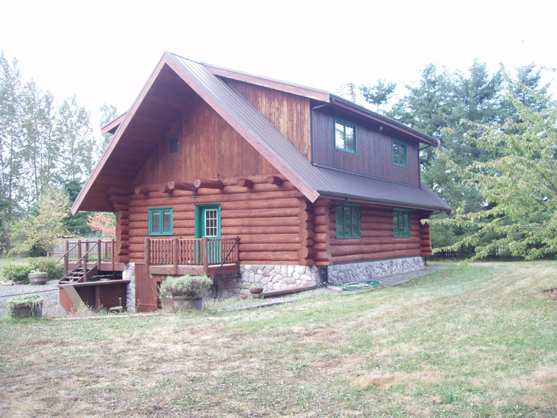 Log Cabin Painting And Staining In Bellingham And All Of