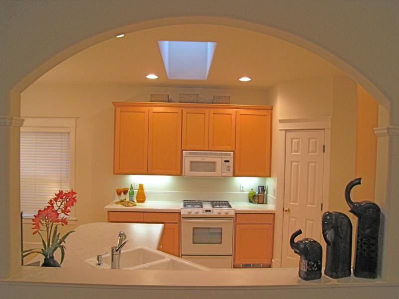 Kitchen skylight and Arched pass through