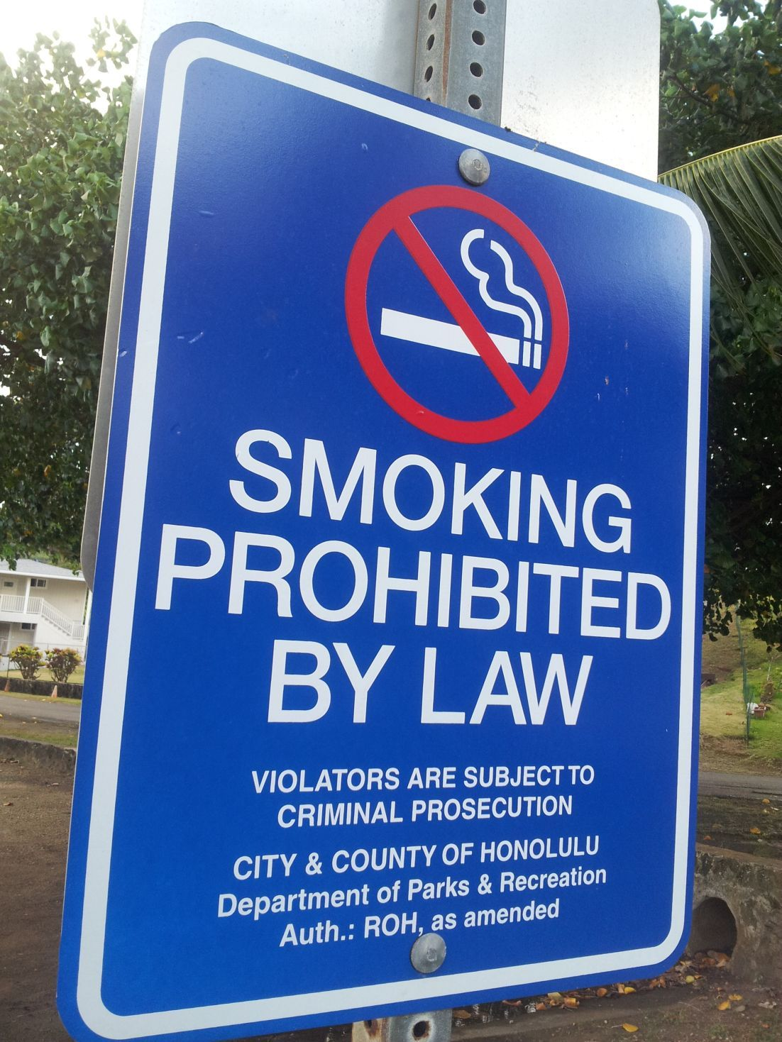Smoking Ban Hawaii