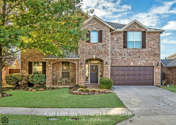 Homes for Sale in Frisco TX  - Comfort, elegance, and space are yours to enjoy in this lovely brick home for sale in Frisco TX.