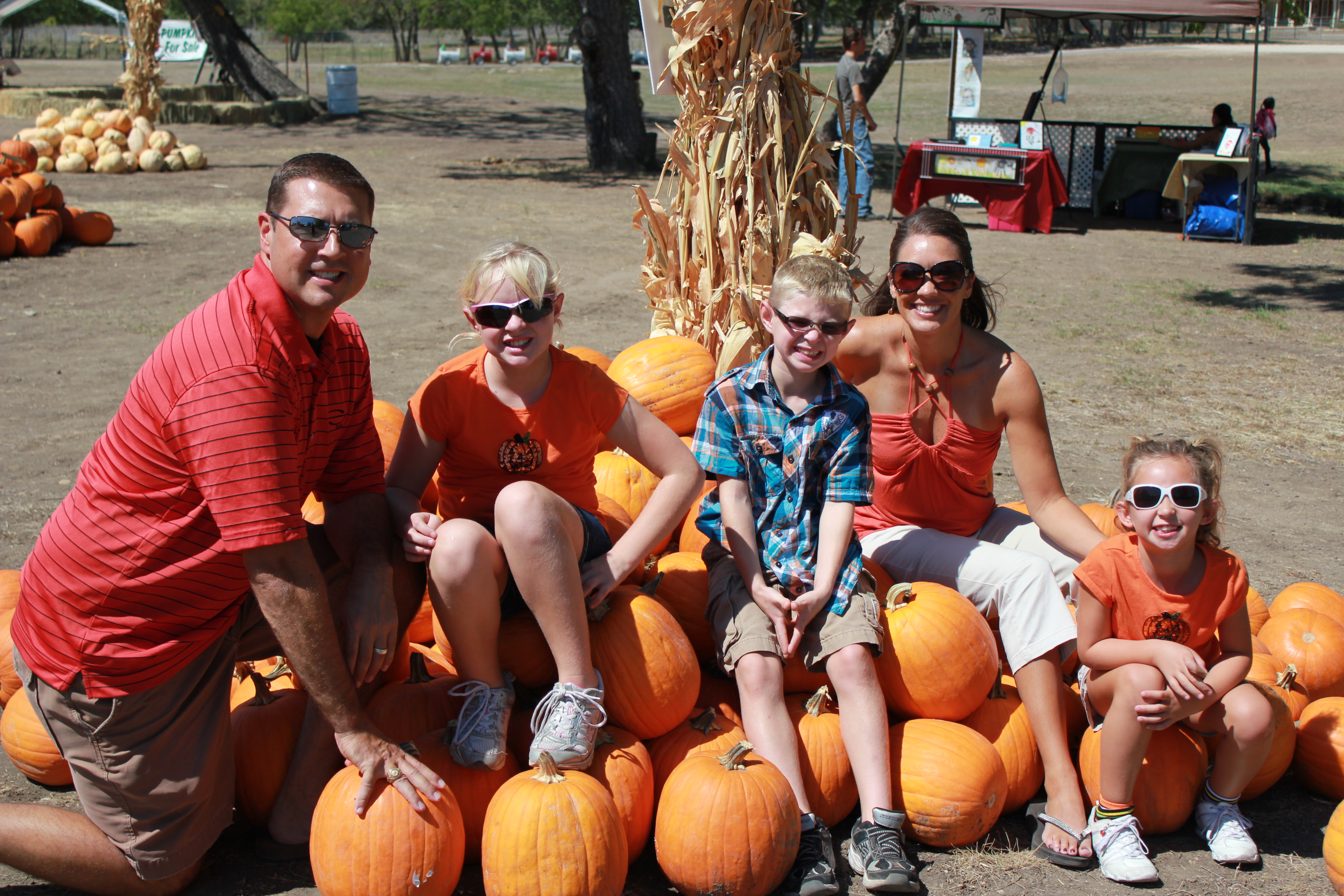 The girls: not your ordinary trip to the pumpkin patch: love creek.