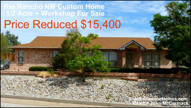15 400 Price Reduction Rio Rancho Custom Home Workshop