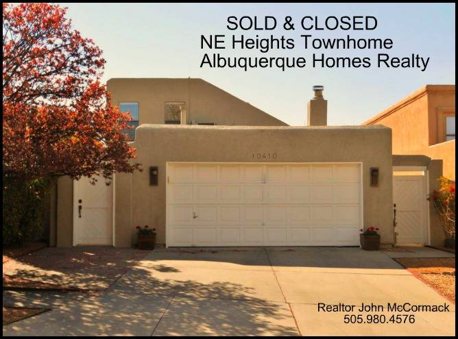 Albuquerque Townhome With Attached Garage For Sale  Under $250,000, albuquerque homes realty, john mccormack realtor