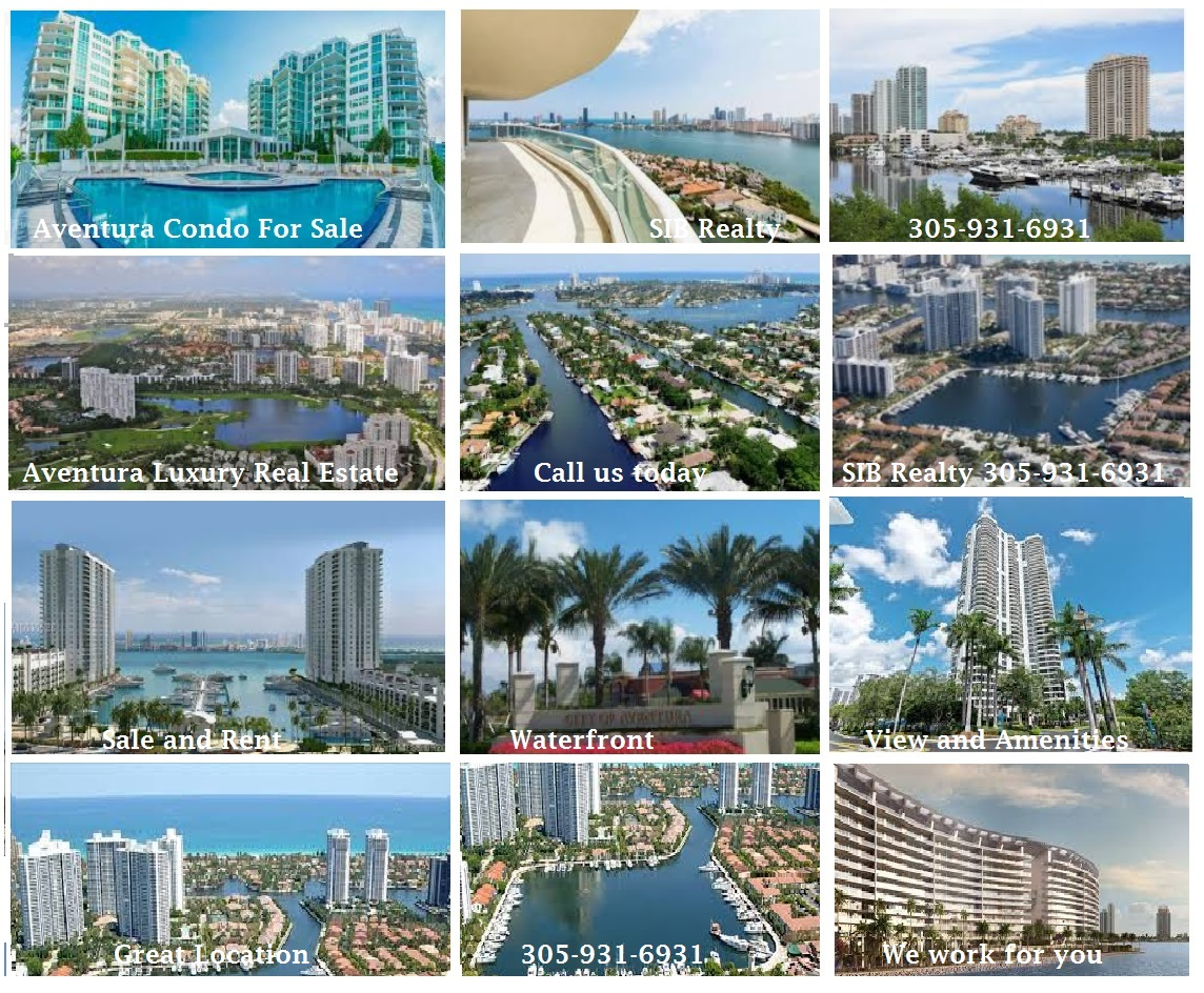 Aventura Real Estate Condos for Sale and Rent with SIB Realty Evelina Tsigelnitskaya
