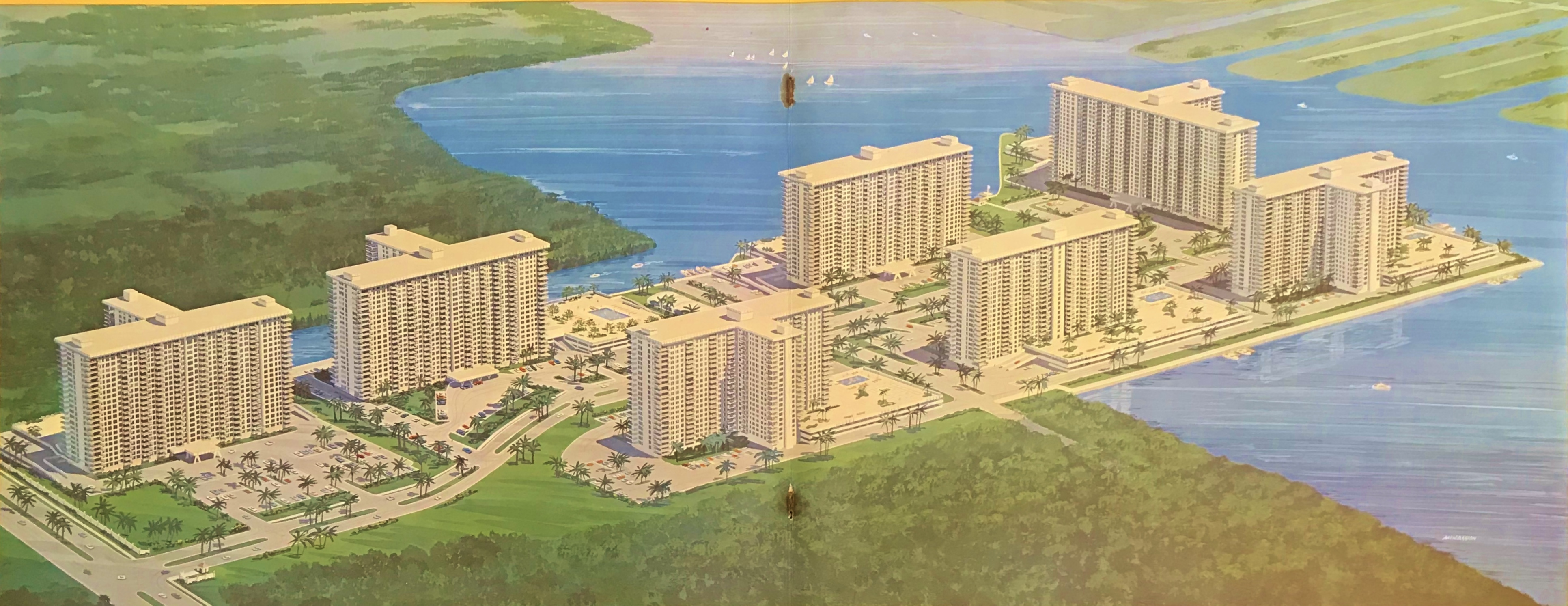 Winston Towers Sunny Isles Beach Site Plan by developer