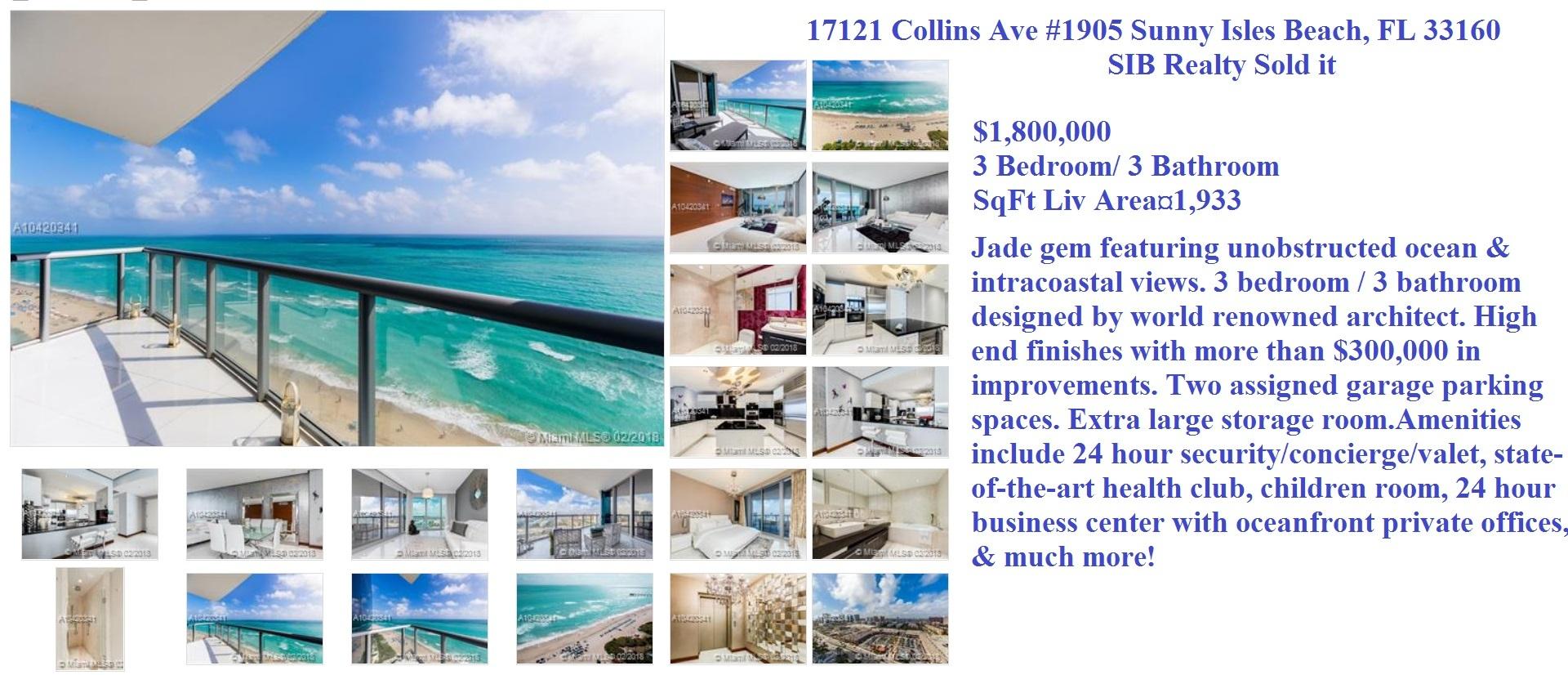 Jade Ocean Sold by SIB Realty