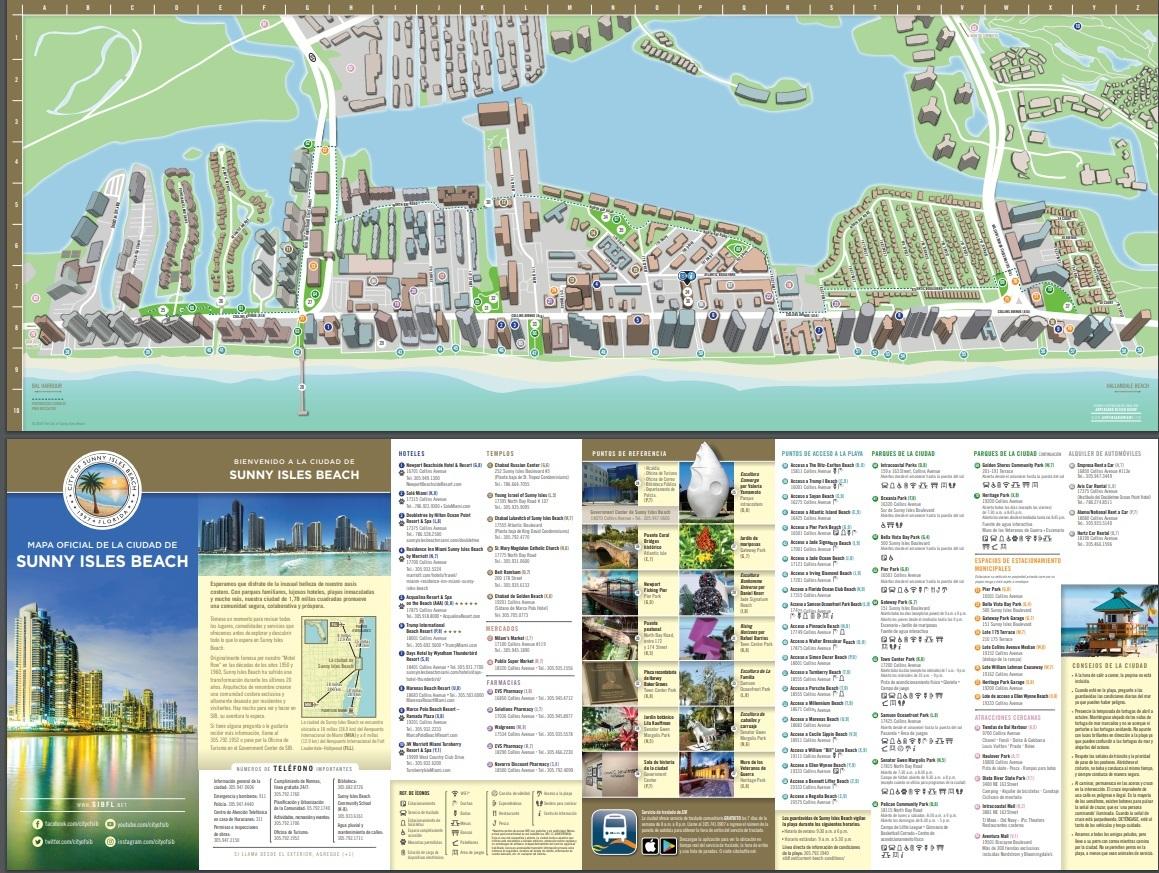 Condo Hunting visiting Sunny Isles Beach City Map English