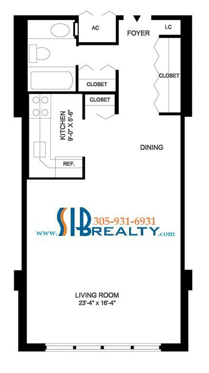 Winston Towers Studio Floor Plan