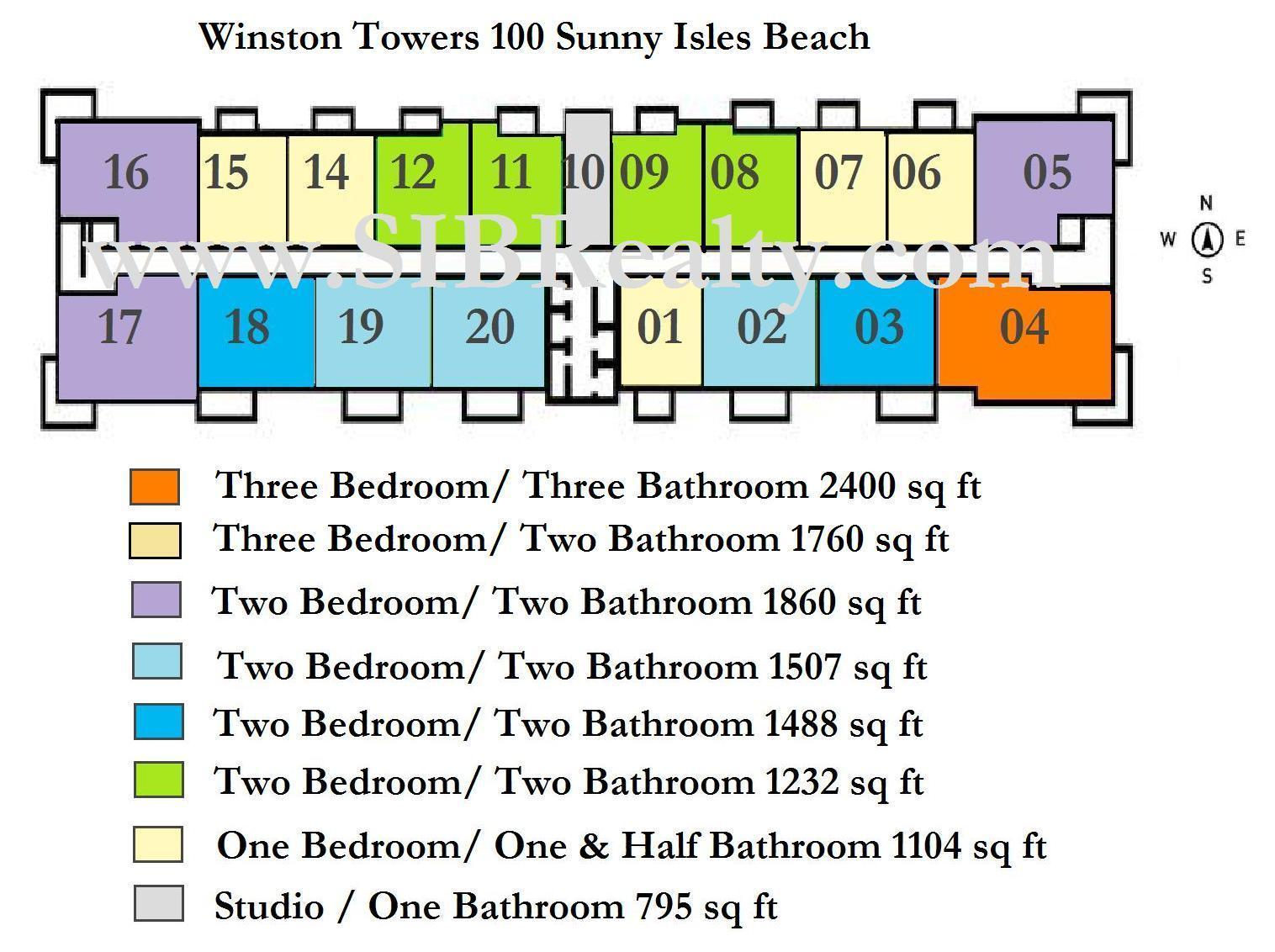 Winston Towers 100 Sunny Isles Beach Site Plan