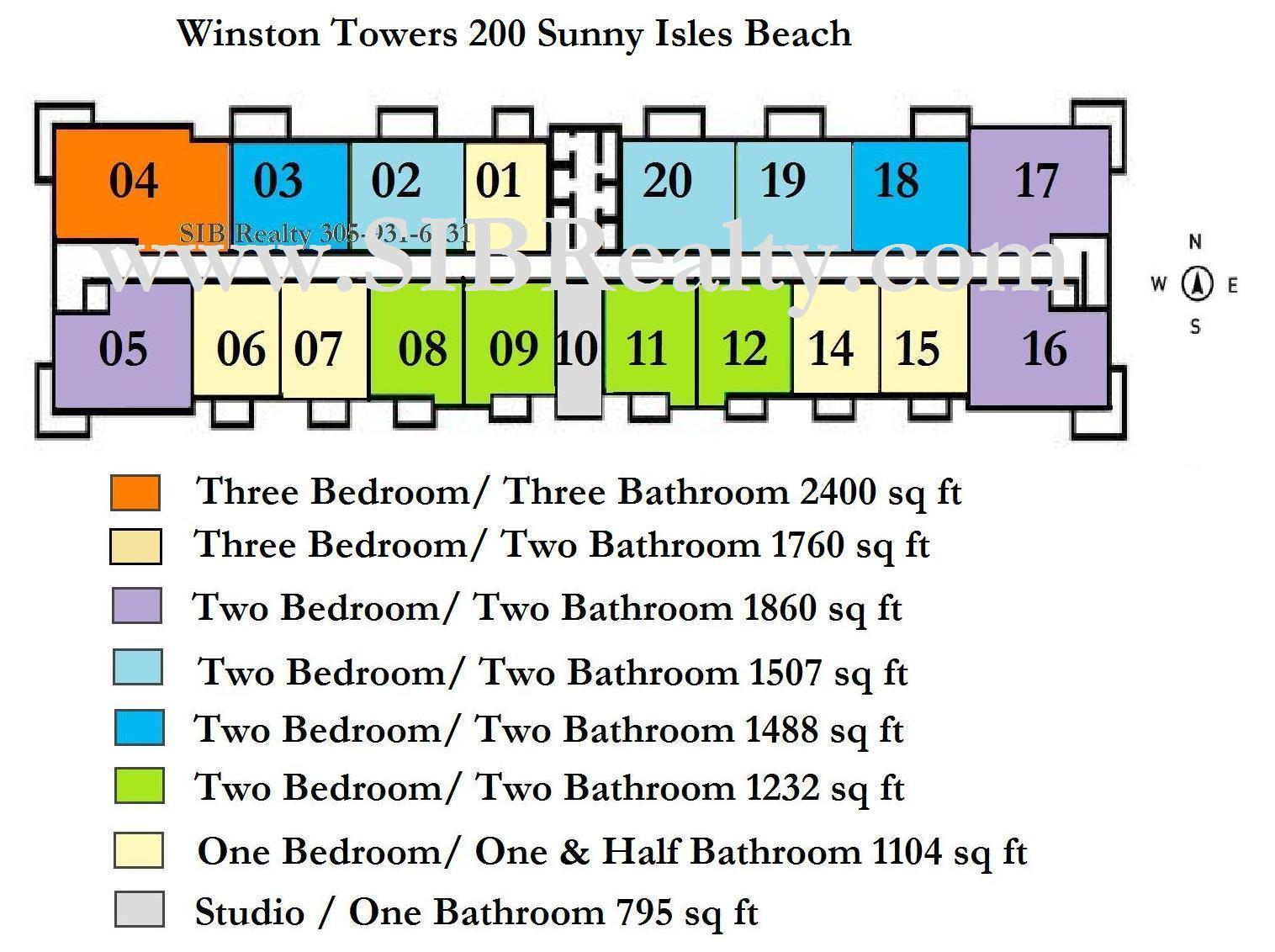 Winston Towers 200 Sunny Isles Beach Site Plan