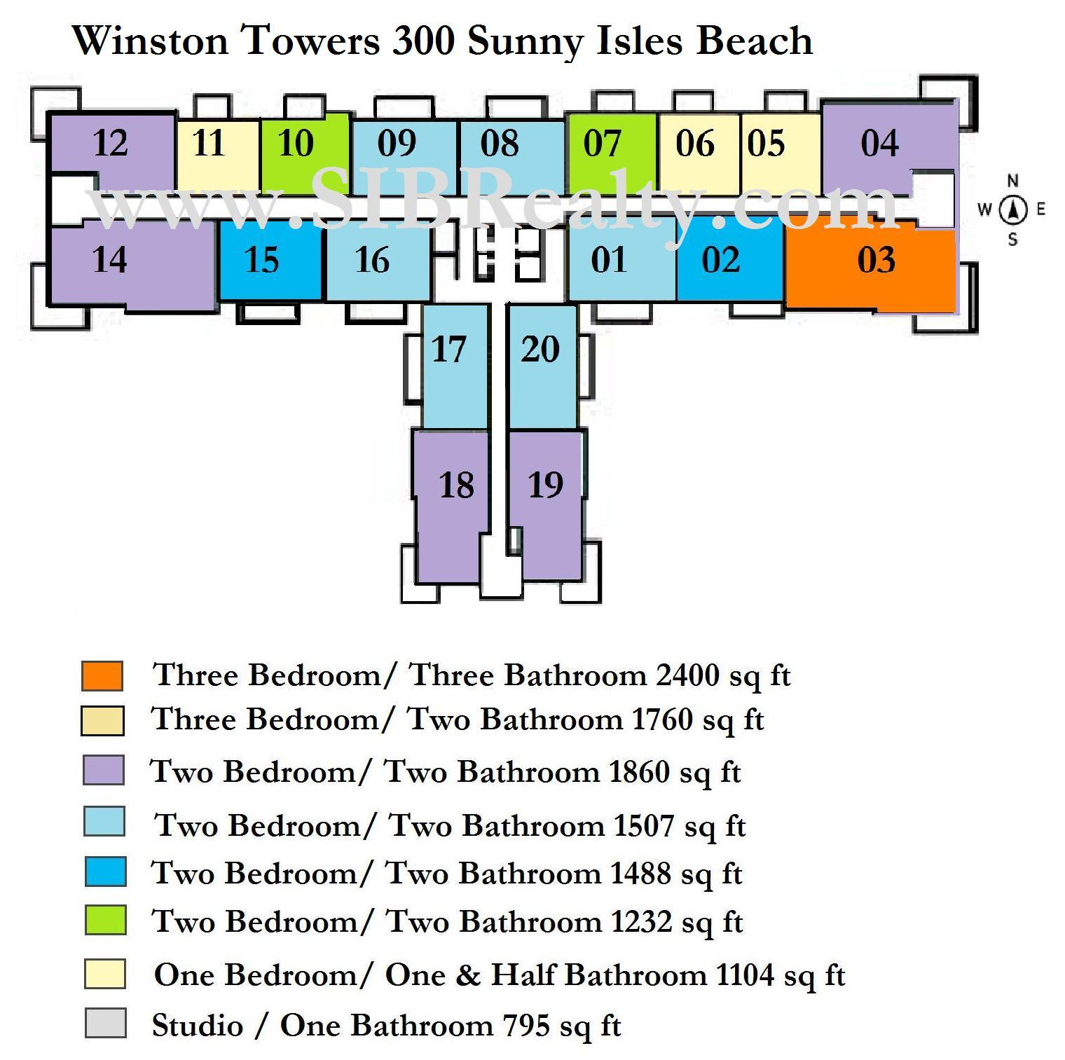Winston Towers 300 Sunny Isles Beach Site Plan