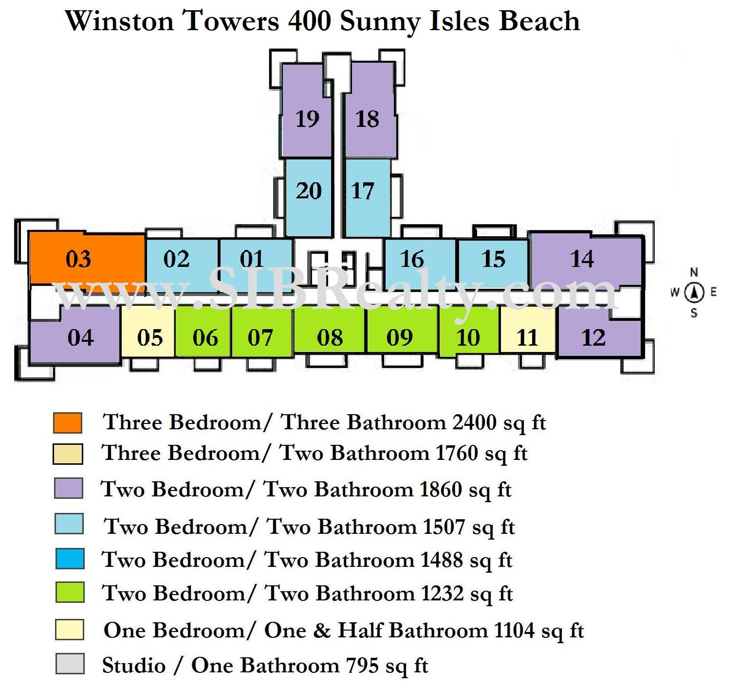 Winston Towers 400 Sunny Isles Beach Site Plan