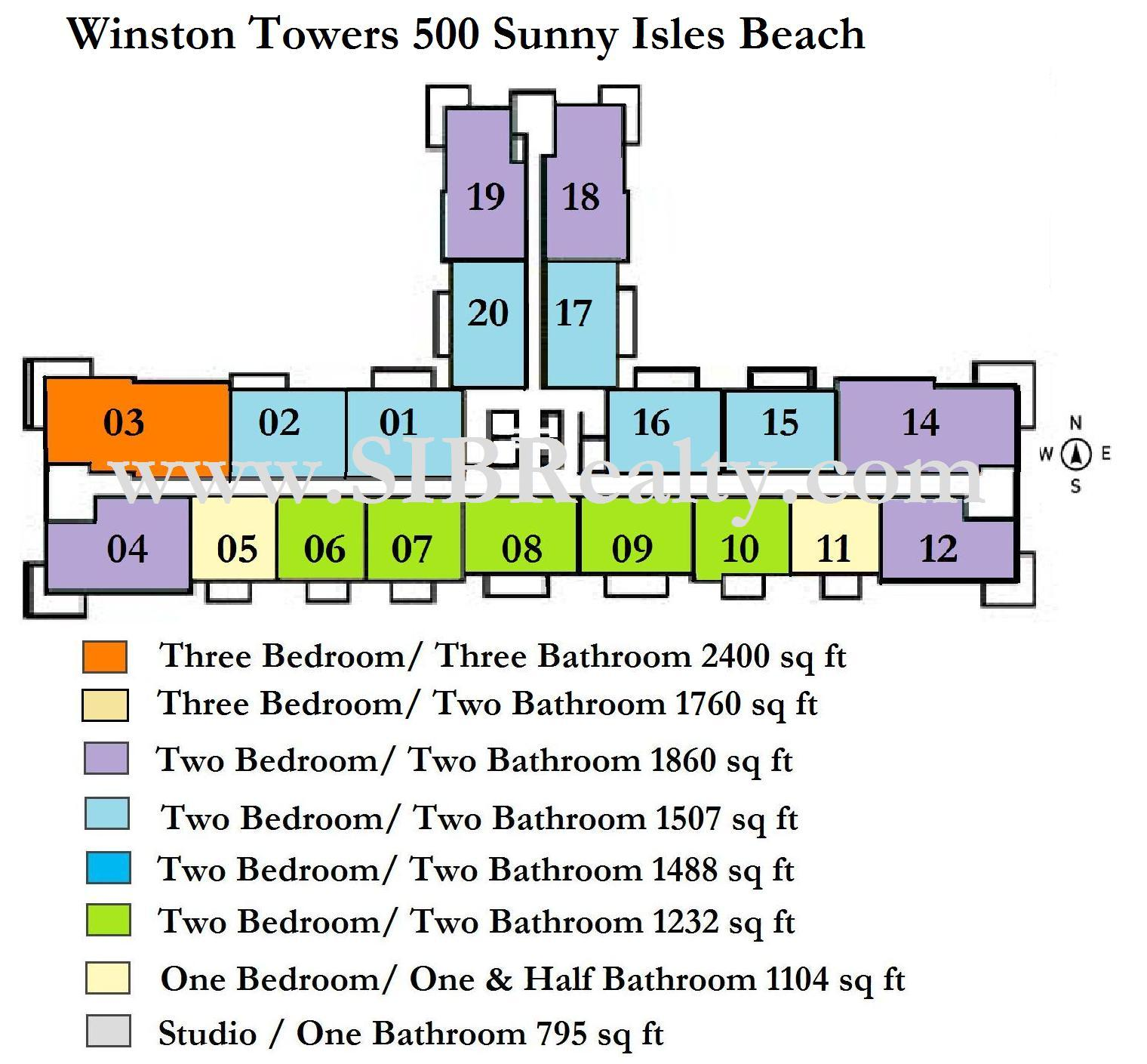 Winston Towers 500 Sunny Isles Beach Site Plan
