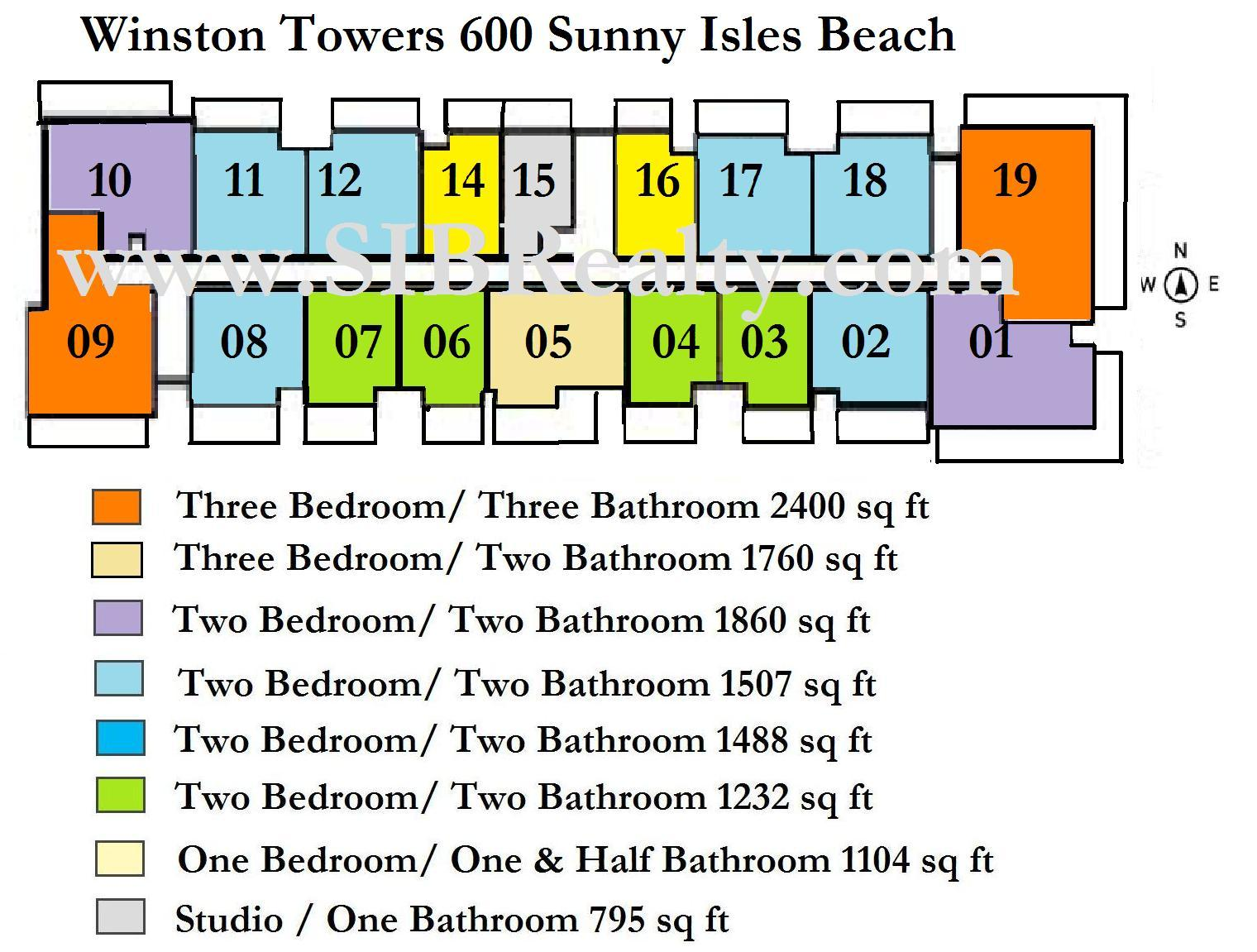 Site Plan Winston Towers 600 Sunny Isles Beach