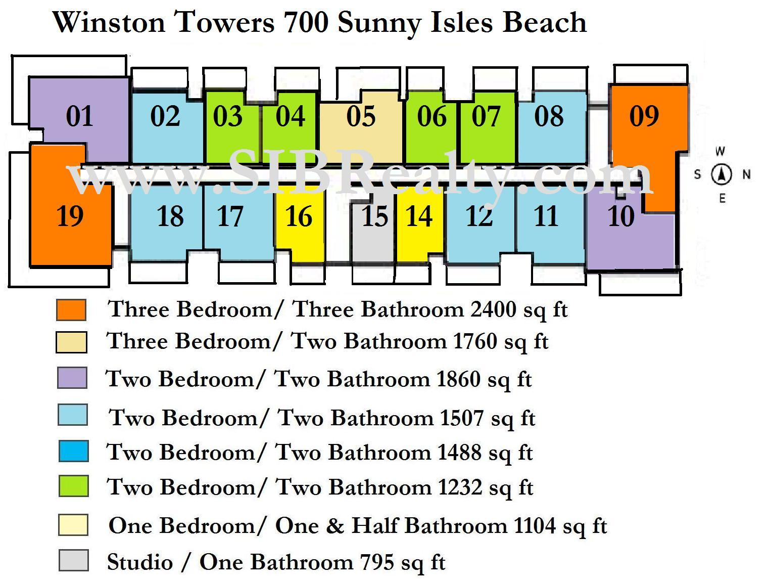 Winston Towers 700 Sunny Isles Beach Site Plan