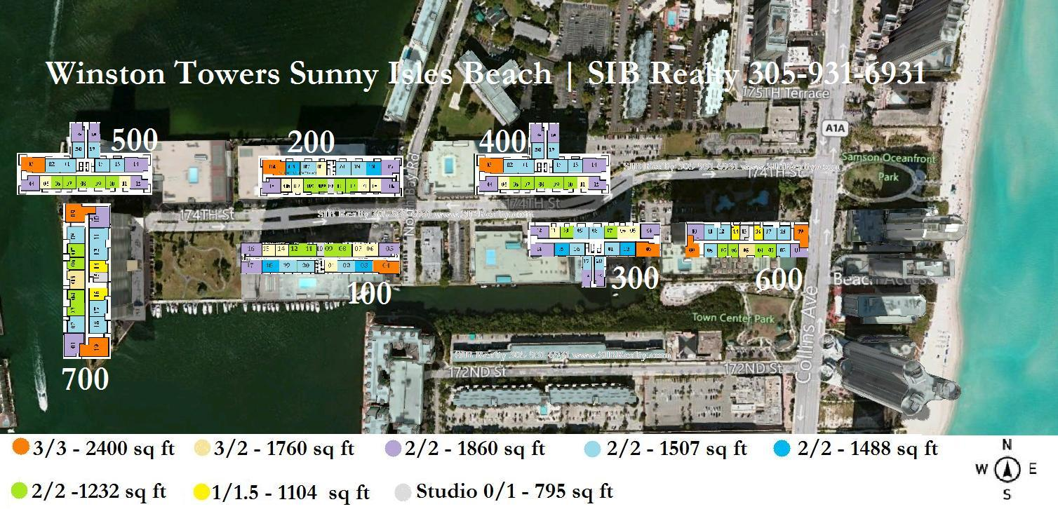 Condo Winston Towers Sunny Isles Beach. Site Plan