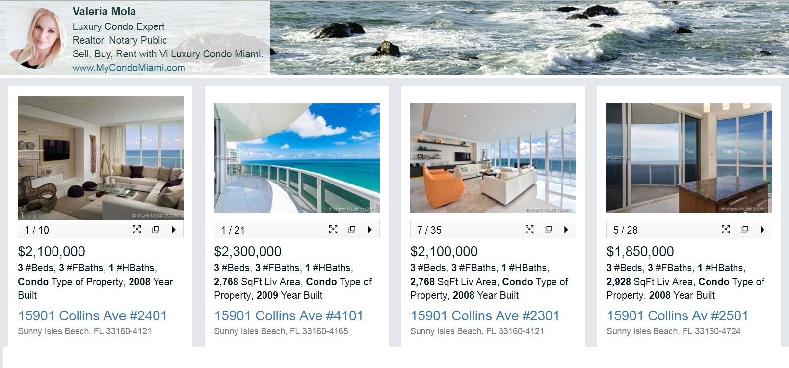 15 Sold condos Trump Tower Two Sunny Isles Beach
