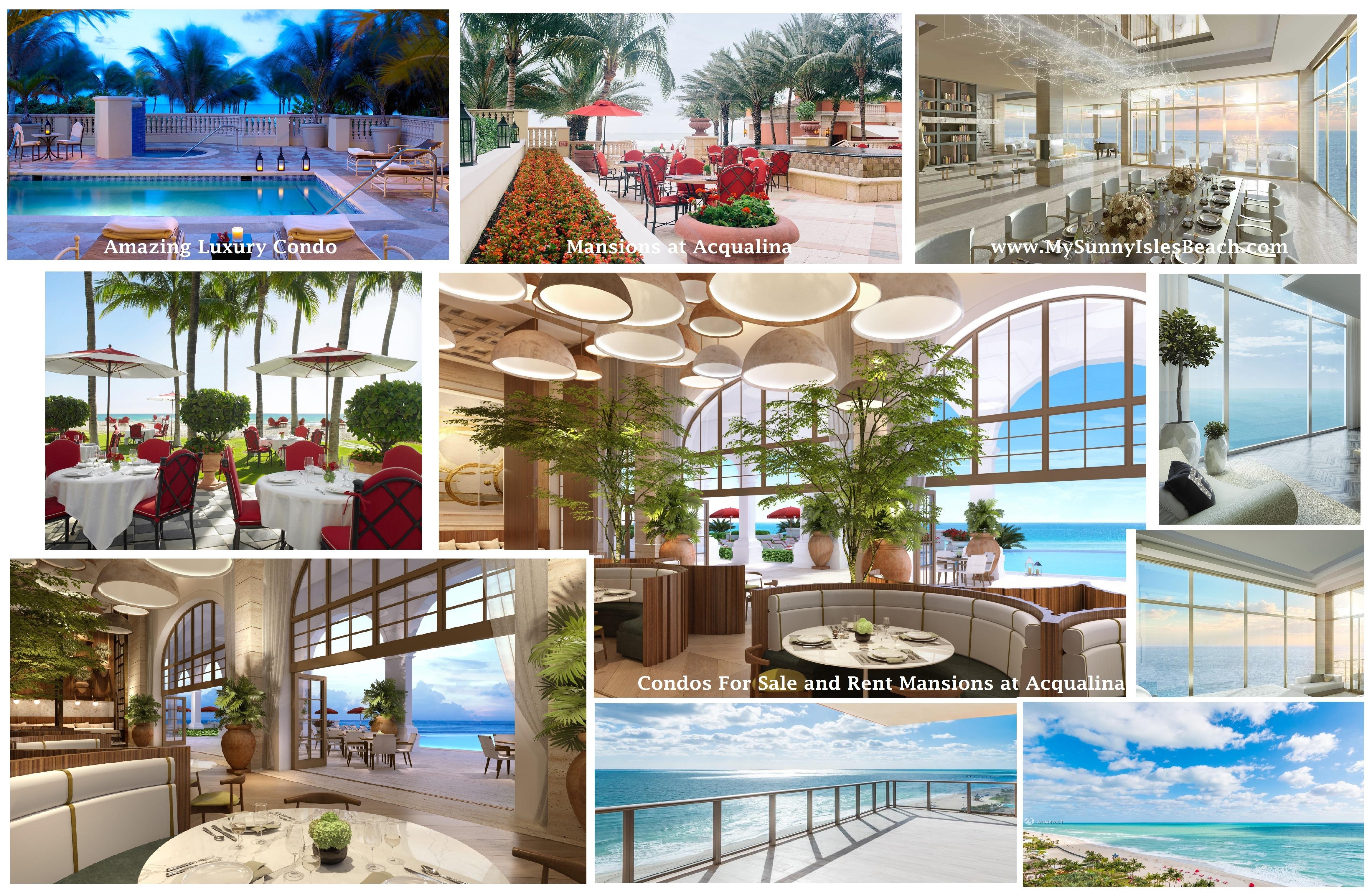 Buy, Rent, Sell Condo Mansions at Acqualina With Valeria Mola Realtor