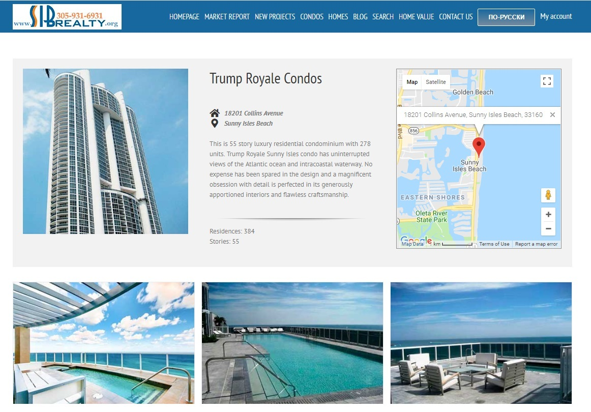Trump Royale Sunny Isles Beach Condos for Sale and Rent