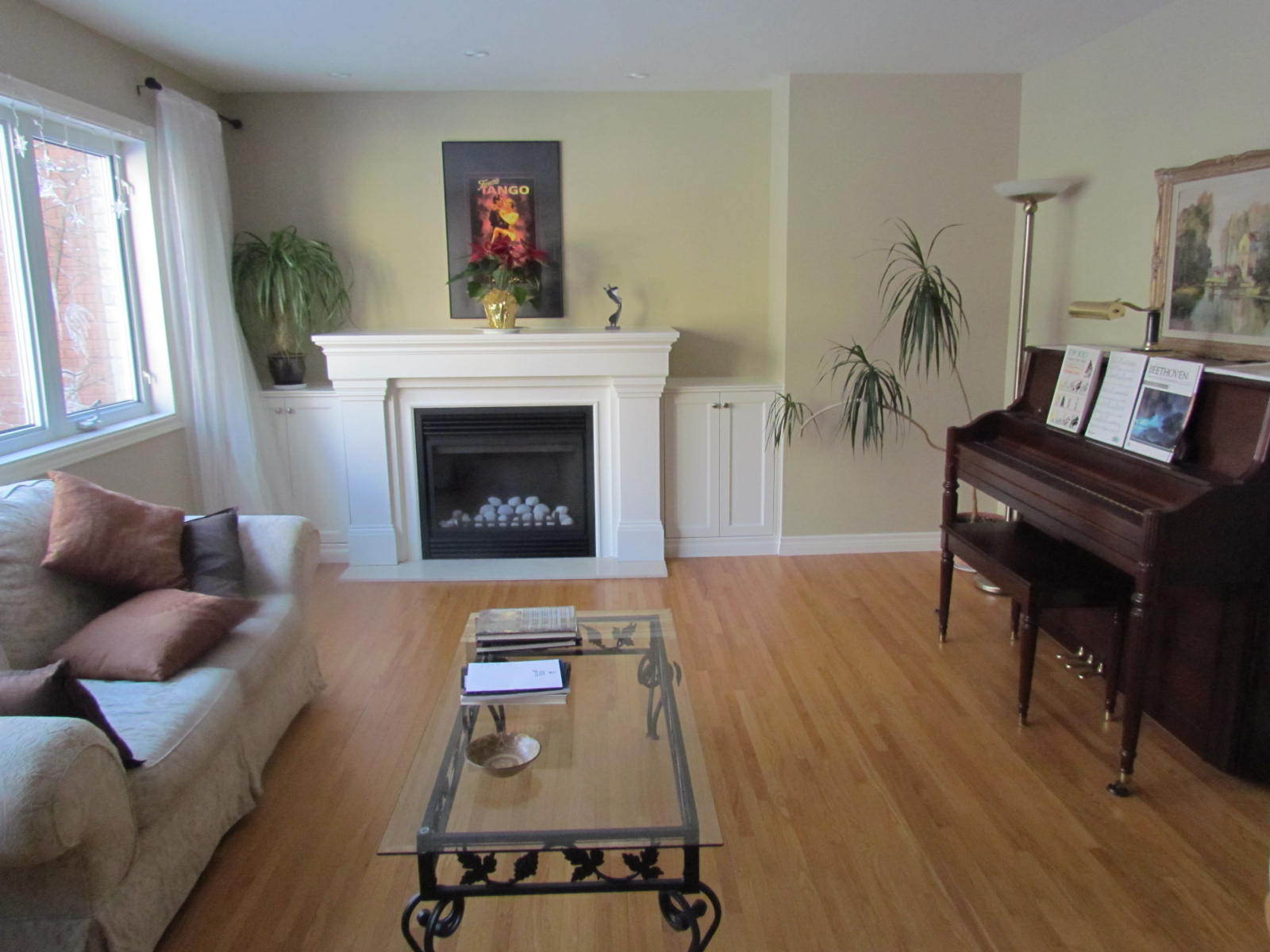 staging a living room