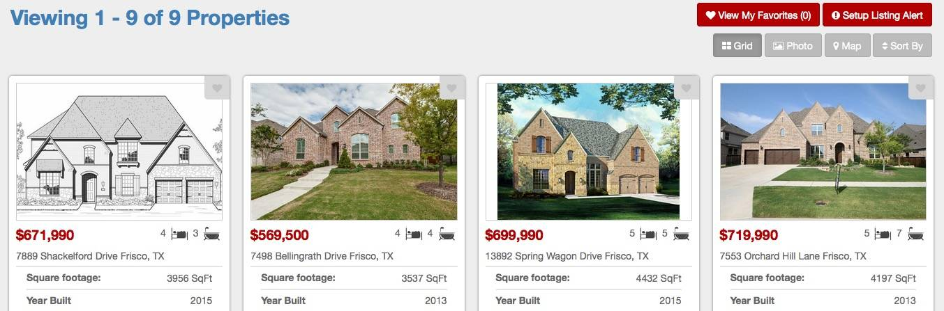 New Home Builders In Lawler Park Frisco Texas