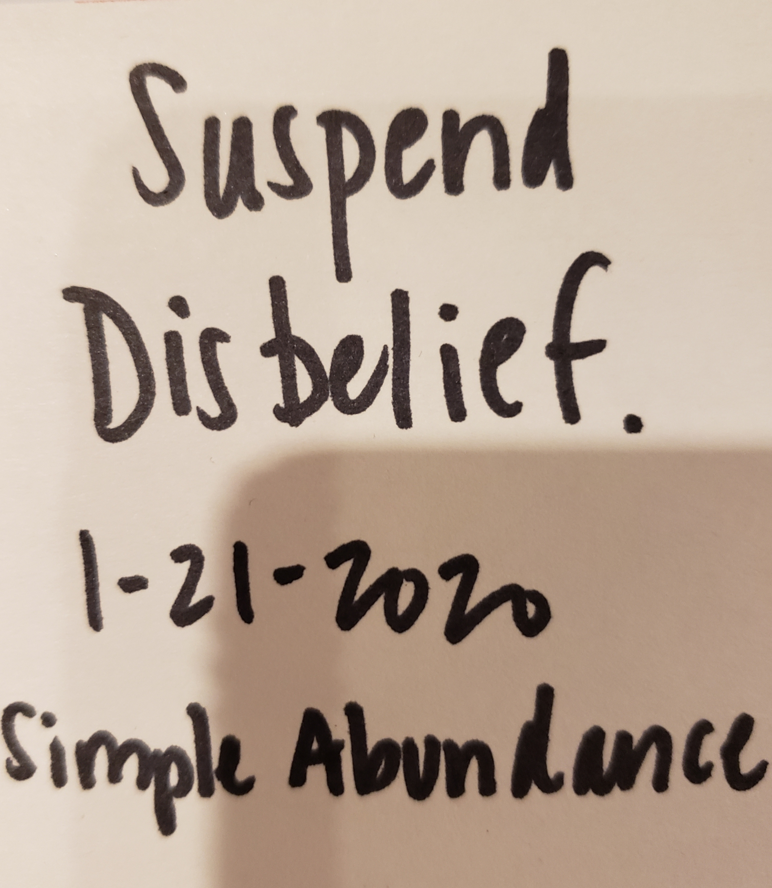 Suspend Disbelief
