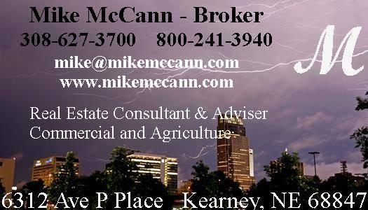 Mike McCann Nebraska Land Broker - Kearney, NE