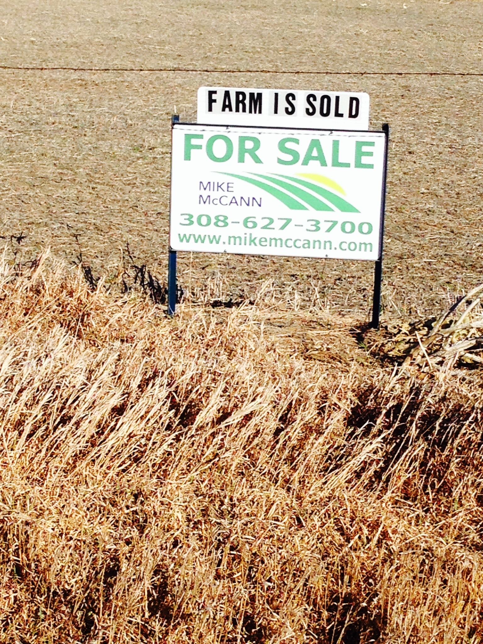 Farm is Sold Mike McCann-Broker