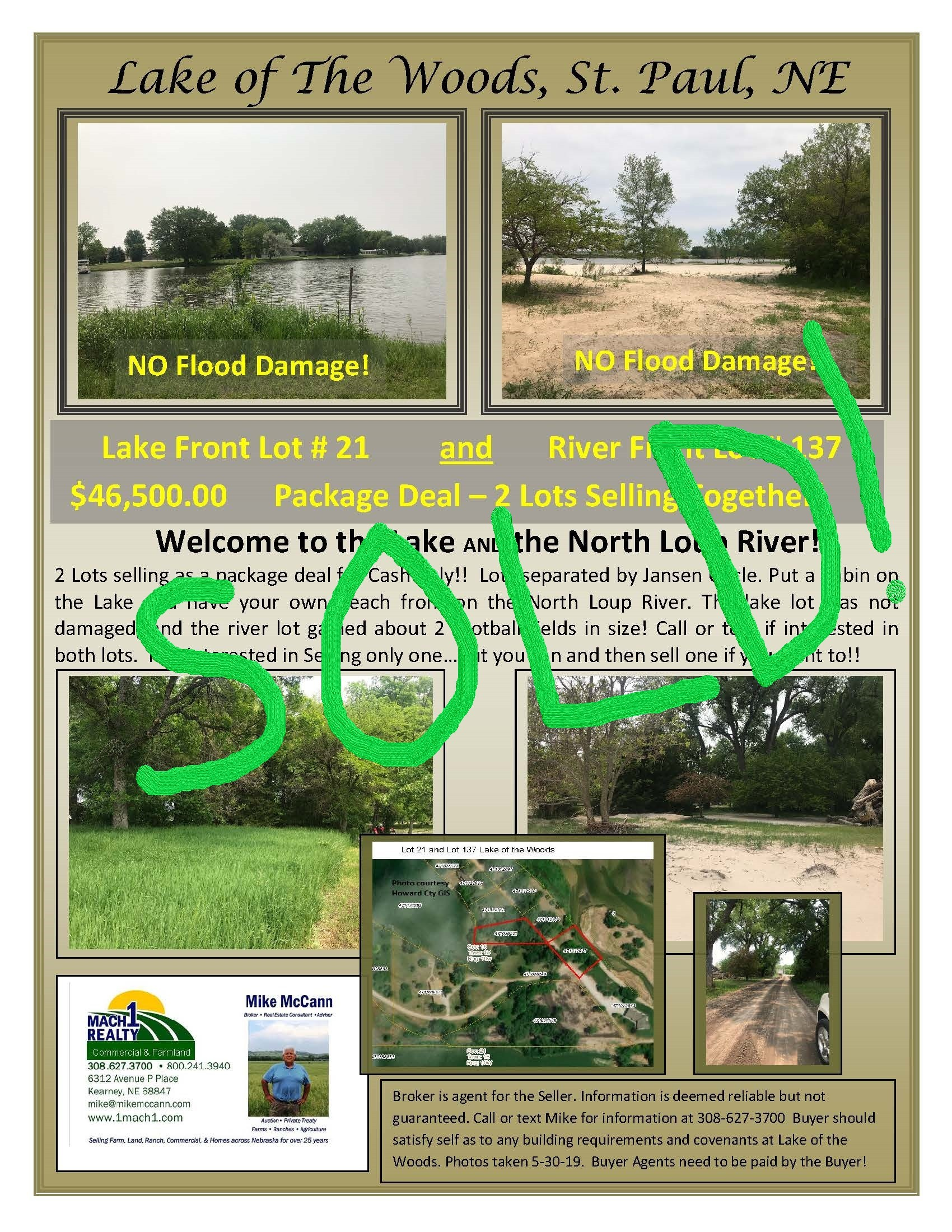 Lake of the Woods SOLD Lot by Mike McCann Mach1 Realty