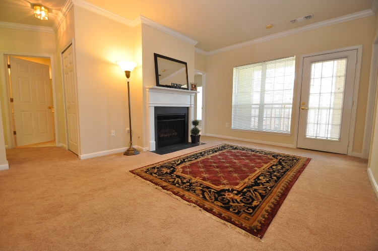 Living room of Unit #2424 in the Palazzo at Park Center