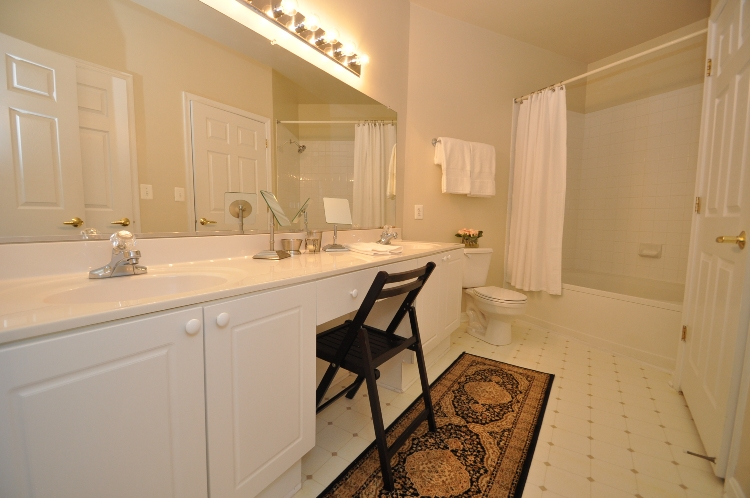 Master bathroom of unit #2424 in the Palazzo at Park Center