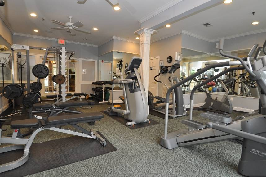 Fitness center in the Palazzo at Park Center, Alexandria, VA 22311