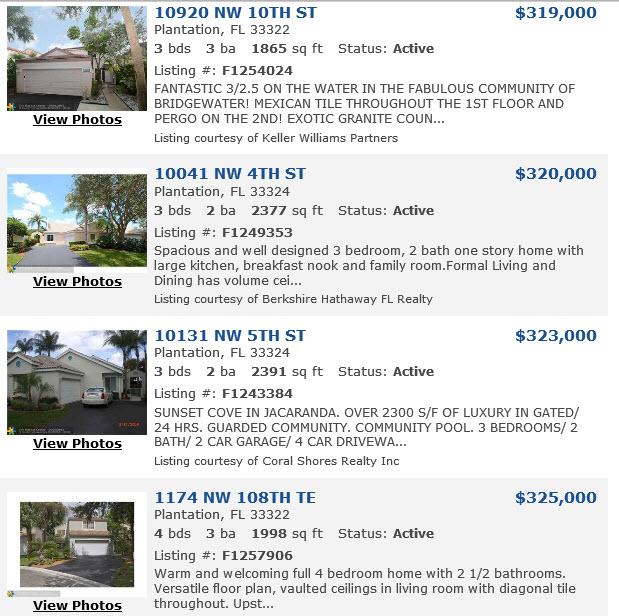 Homes for Sale in Plantation FL