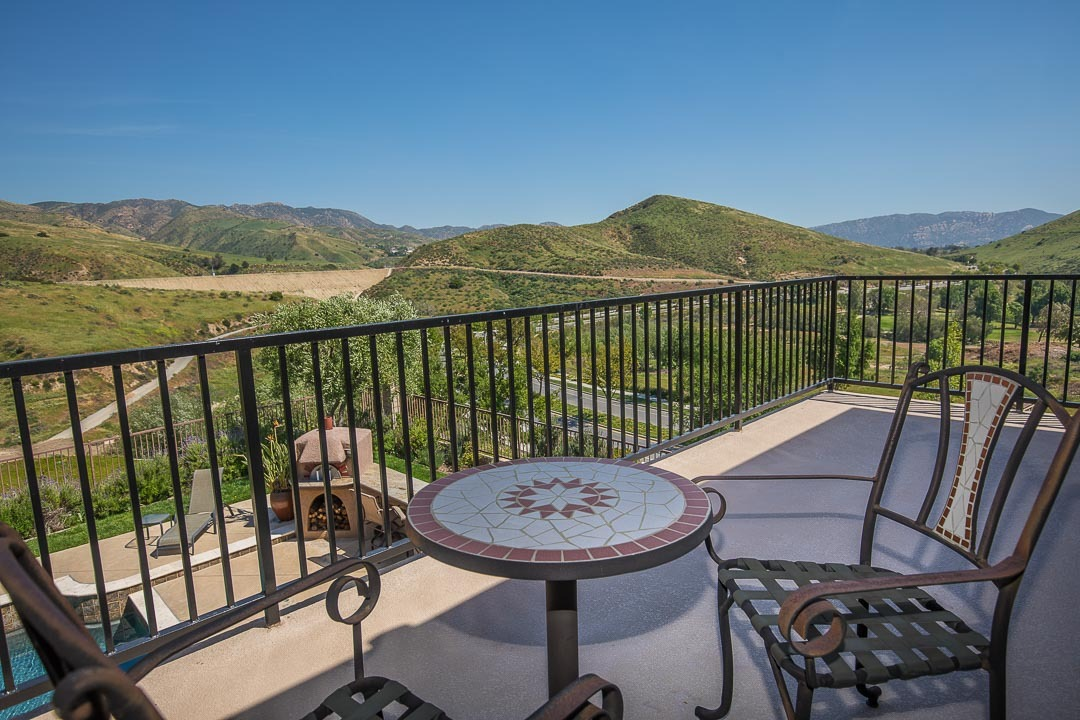 View off the Balcony of an Encantada Simi Valley home