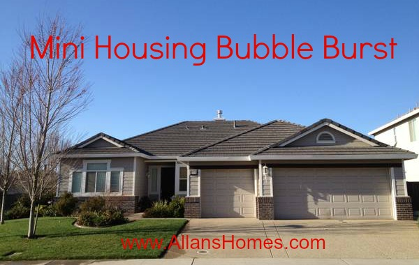 Sacramento's Mini Housing Bubble Just Burst!