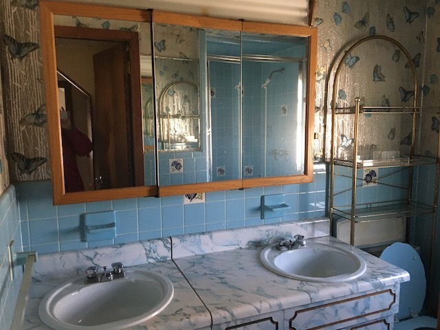 old outdated bathroom