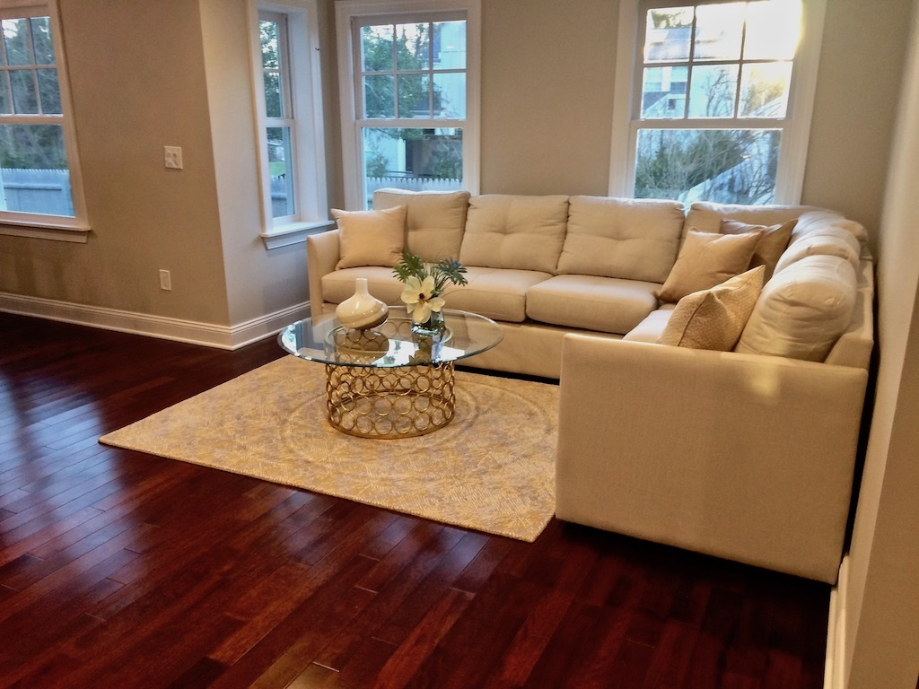 family room staging NJ