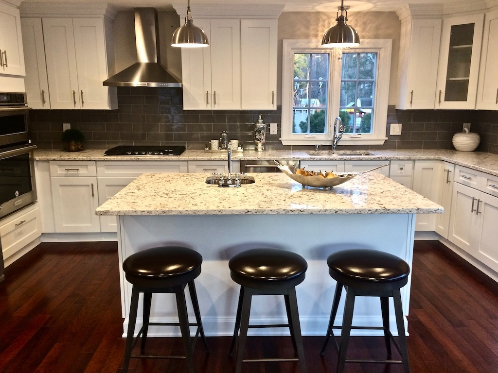 high-end kitchen staging