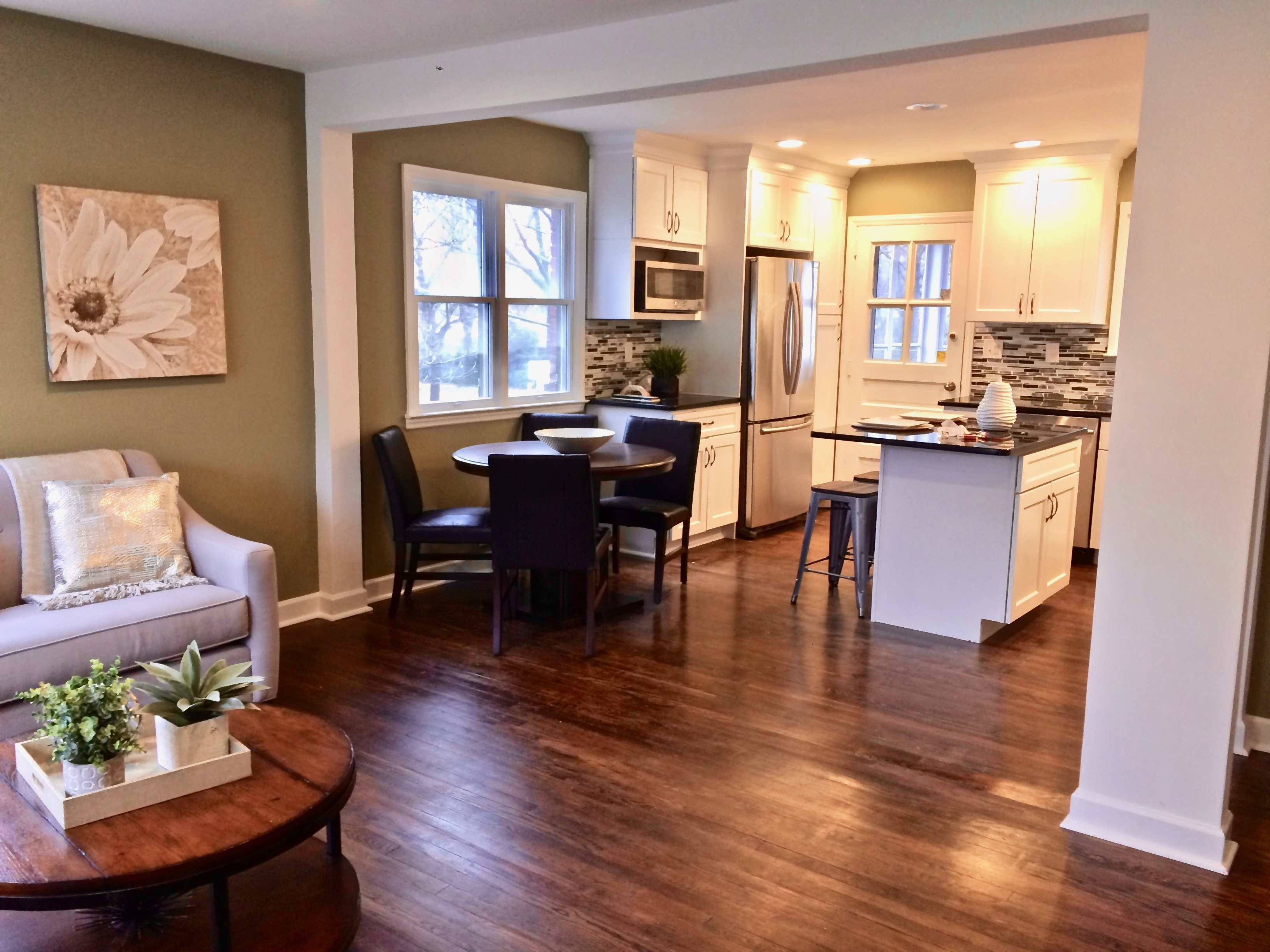kitchen/dining area of small investor flip
