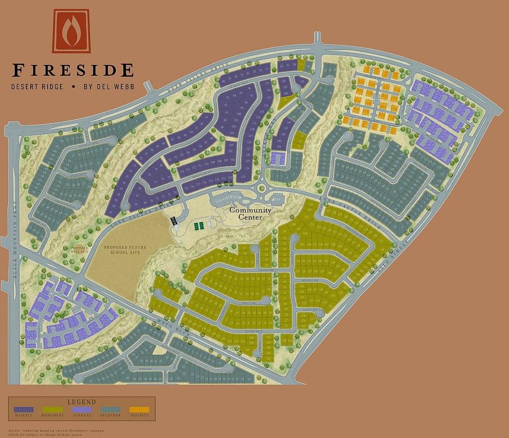 Desert Ridge Map Fireside at Desert Ridge Community Map