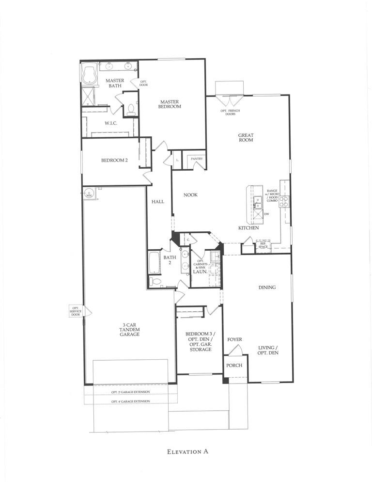 The monument series floor plans fireside desert ridge for Juniper floor plan
