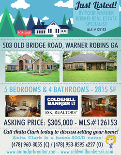 Home for Sale in Warner Robins GA at 503 Old Bridge Road