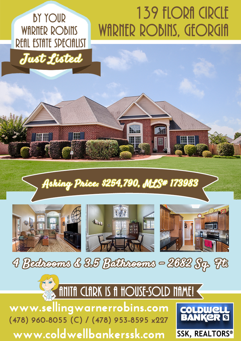 Just Listed in Rose Hill Subdivision in Warner Robins GA