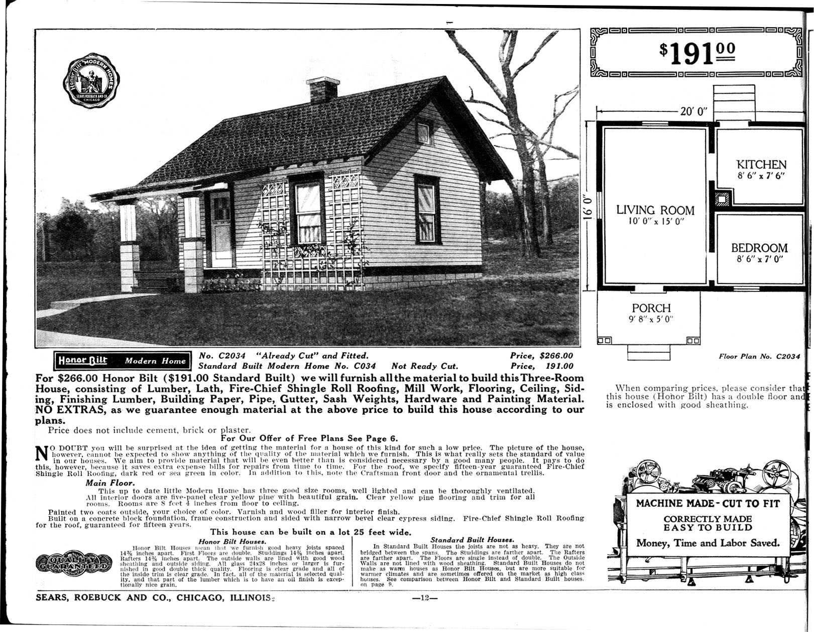 Chicago Bungalow Floor Plans Kc And Ruthie Sears Catalog House Circa 1920
