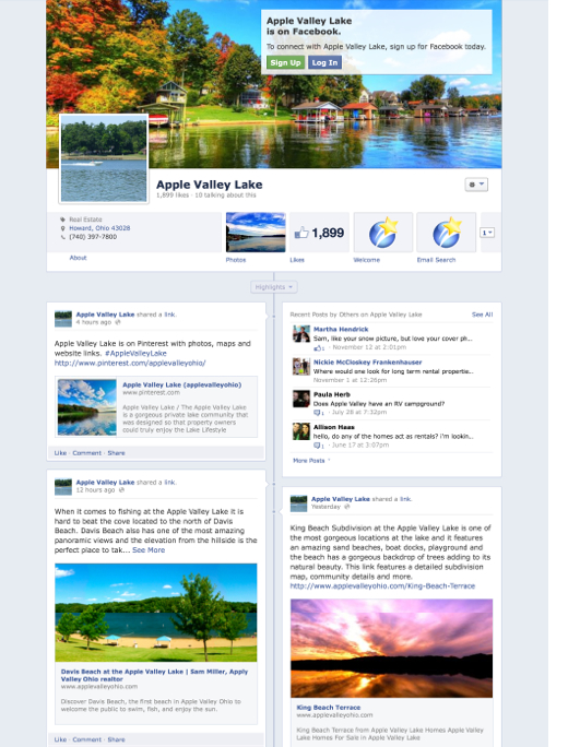 Apple Valley Lake Facebook Page