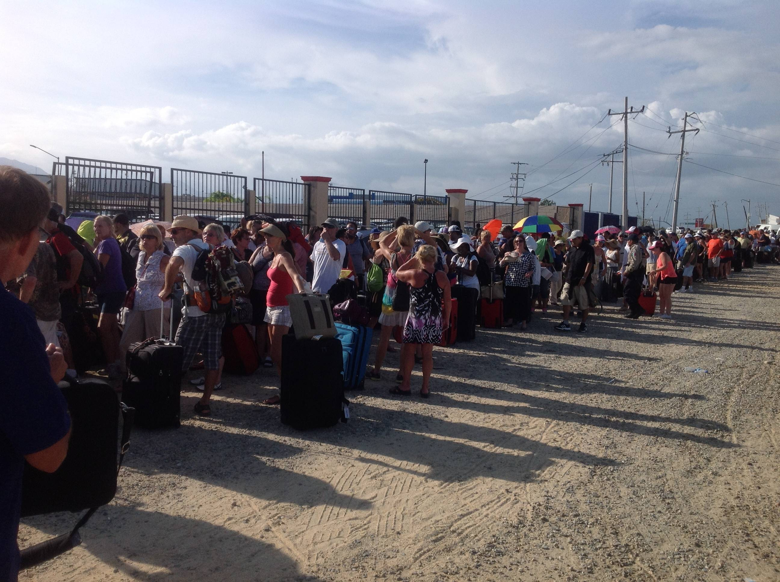 the line at the airport