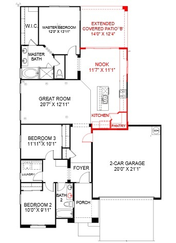 Ready march best selling 1 story home in sendera place for Best selling 1 story home plans
