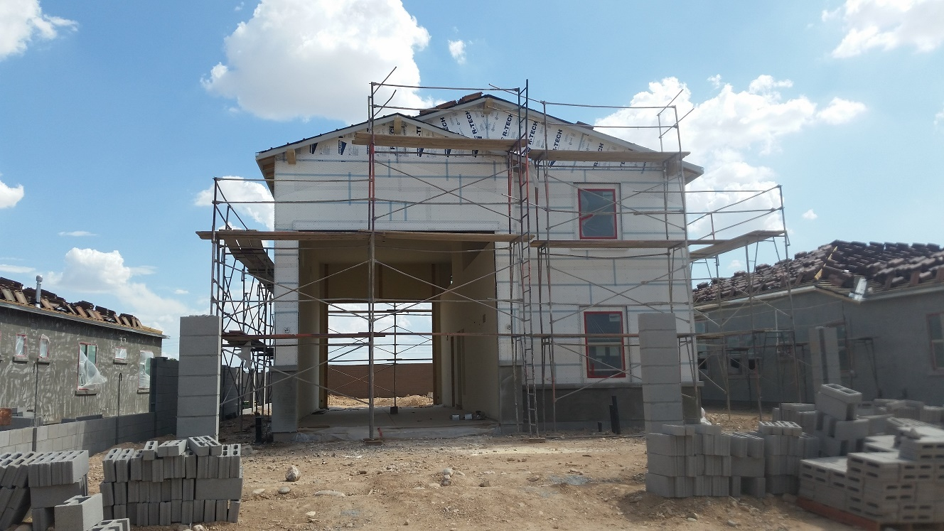 The meadows maracay homes model construction updates - Garage for rv model ...
