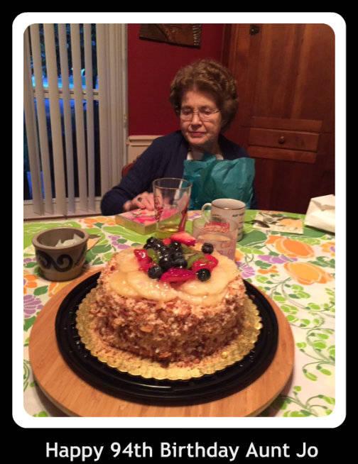 Happy 94th Birthday Aunt Jo
