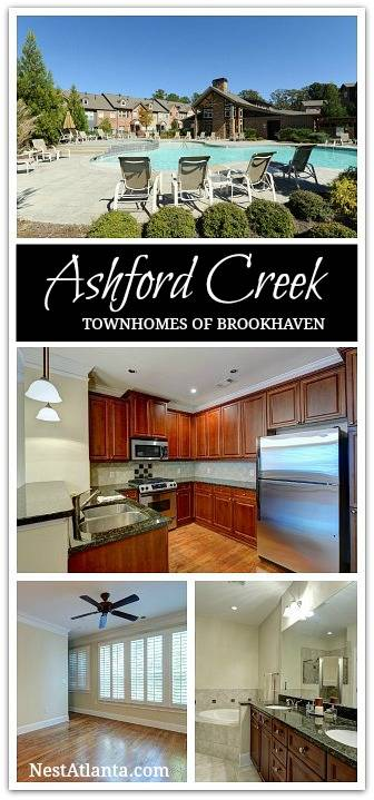 Brookhaven townhomes for sale in Ashford Creek Atlanta